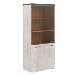 Шкаф для документов комбинированный с топом THC 85.2 Дуб Каньон 850х1930х430 Torr, Цвет товара: Дуб Каньон