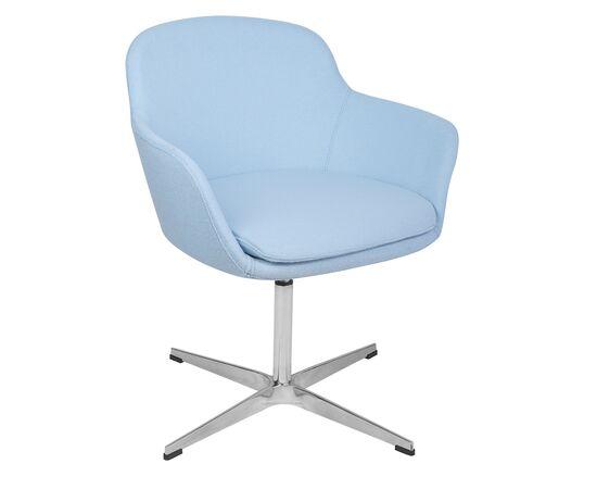 Дизайнерское кресло из кашемира A646-5 (Elegance S) светло-голубое Beonmebel