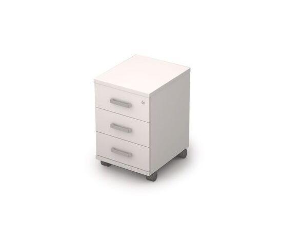 Тумба мобильная под стол ( c замком и усиленными колесами) AVANCE ALSAV 6ТЗ.004/1 Белый 394х454х598, Цвет товара: Белый
