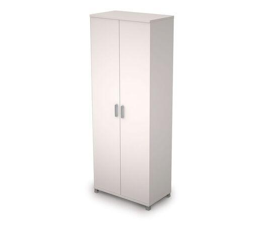 Шкаф для документов высокий ( двери ЛДСП ) AVANCE ALSAV 6Ш.005.1 Белый 800х450х2116, Цвет товара: Белый