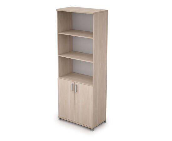 Шкаф для документов высокий ( 2 низкие двери ЛДСП ) AVANCE ALSAV 6Ш.005.2 Шамони светлый 800х450х2116, Цвет товара: Шамони светлый