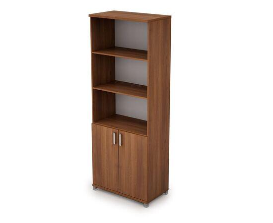 Шкаф для документов высокий ( 2 низкие двери ЛДСП ) AVANCE ALSAV 6Ш.005.2 Шамони темный 800х450х2116, Цвет товара: Шамони темный