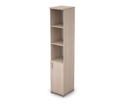 Шкаф для документов узкий (1 низкая дверь ЛДСП) AVANCE ALSAV  6П.005.2 Шамони светлый 400х450х2116, Цвет товара: Шамони светлый