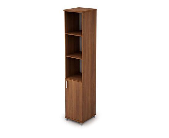 Шкаф для документов узкий (1 низкая дверь ЛДСП) AVANCE ALSAV  6П.005.2 Шамони темный 400х450х2116, Цвет товара: Шамони темный