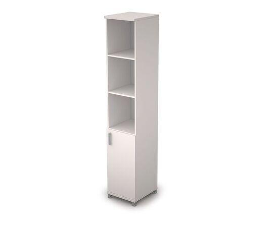 Шкаф для документов узкий (1 низкая дверь ЛДСП) AVANCE ALSAV 6П.005.2 Белый 400х450х2116, Цвет товара: Белый