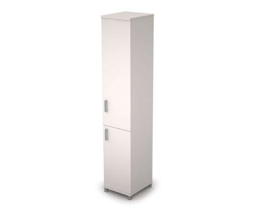 Шкаф для документов узкий (с глухой средней и малой дверьми ЛДСП)  AVANCE ALSAV 6П.005.5 Белый 400х450х2116, Цвет товара: Белый