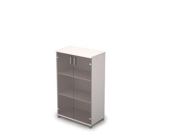 Шкаф для документов средний со стеклом AVANCE 6Ш.017.3 Белый 800х450х1348, Цвет товара: Белый