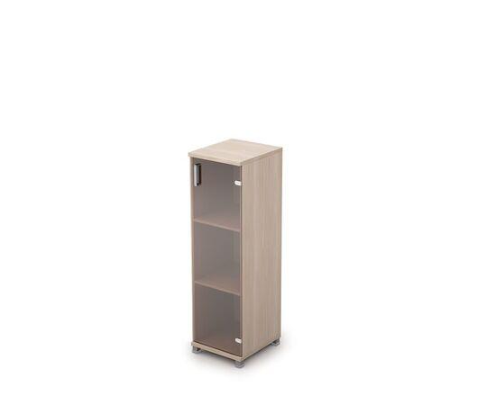 Шкаф для документов в офис средний узкий закрытый AVANCE 6П.015.1 Белый  400х450х1348, Цвет товара: Шамони светлый
