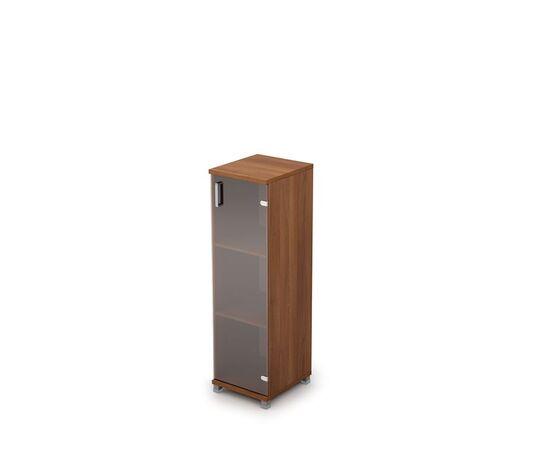 Шкаф для документов средний узкий ( дверь стекло без ал.рамы ) AVANCE ALSAV 6П.015.3 Шамони темный 400х450х1348, Цвет товара: Шамони темный