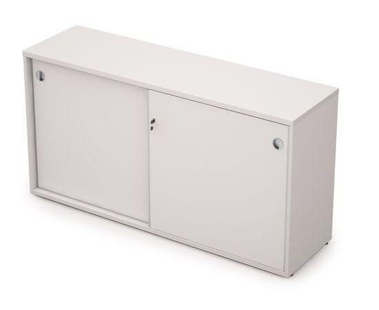 Шкаф-купе для документов низкий удлиненный AVANCE 6ШК.012 Белый 1435х400х750 (без замка), Цвет товара: Белый