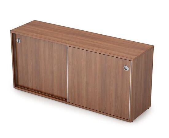 Шкаф-купе для документов низкий длинный без замка AVANCE ALSAV  6ШК.018 Шамони темный 1635х400х750, Цвет товара: Шамони темный