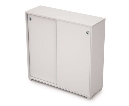 Шкаф-купе для документов средний с замком AVANCE ALSAV 6ШКЗ.013 Белый 1237х400х1205, Цвет товара: Белый