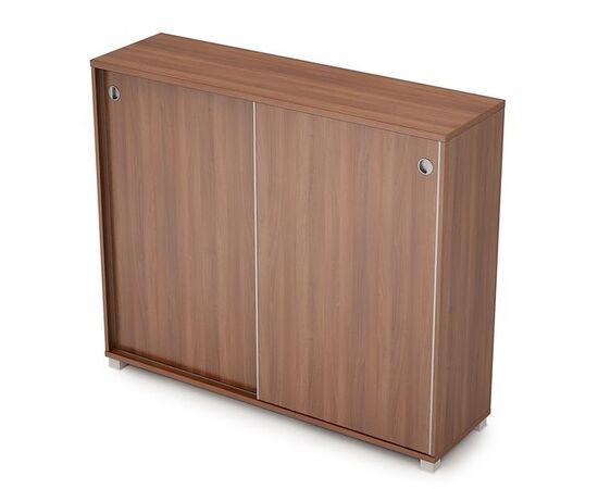Шкаф-купе для документов средний удлиненный AVANCE 6ШК.014 Шамони темный 1437х400х1205 (без замка), Цвет товара: Шамони темный
