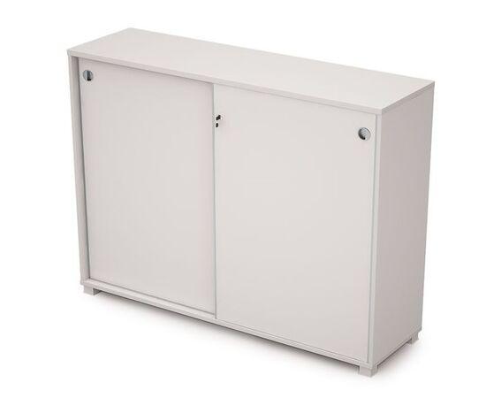 Шкаф-купе для документов средний длинный AVANCE 6ШКЗ.019 Белый 1637х400х1205 (с замком), Цвет товара: Белый