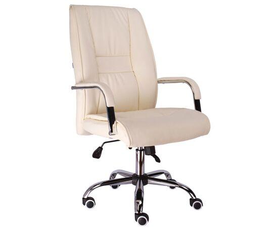Кресло для руководителя в офис Everprof Kent TM экокожа кремовый