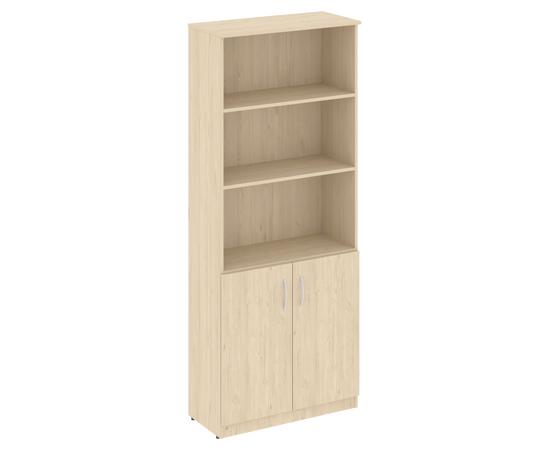 Шкаф высокий широкий для документов (2 низкие двери) NOVA S В.СТ-1.1 Бук Артизан 770х360х1915, Цвет товара: бук