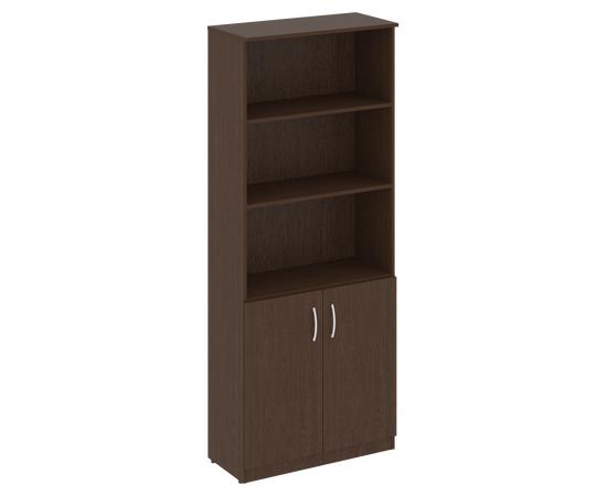 Шкаф высокий широкий для документов (2 низкие двери)NOVA S В.СТ-1.1 Венге 770х360х1915, Цвет товара: Венге
