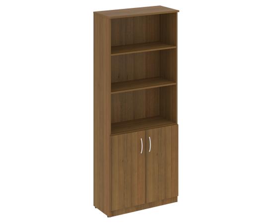 Шкаф высокий широкий для документов (2 низкие двери)NOVA S В.СТ-1.1 Орех Гварнери 770х360х1915, Цвет товара: Орех