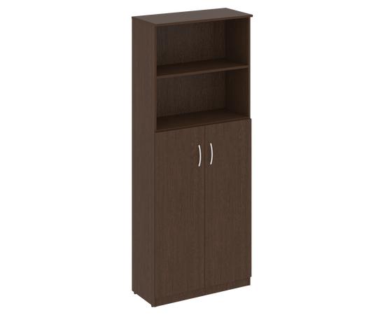 Шкаф высокий широкий для документов (2 средние двери ЛДСП)NOVA S В.СТ-1.6 Венге 770х360х1915, Цвет товара: Венге