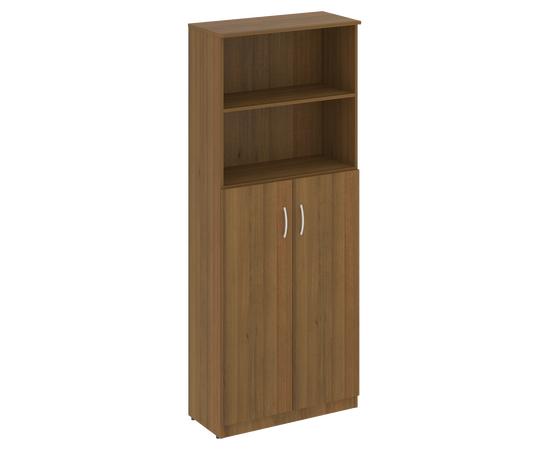 Шкаф для документов высокий широкий (2 средние двери ЛДСП) NOVA S Riva В.СТ-1.6 Орех Гварнери 770х360х1915, Цвет товара: Орех  Гварнери
