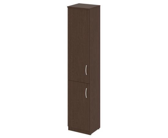 Шкаф высокий узкий для документов (1 низкая дверь ЛДСП, 1 средняя дверь ЛДСП)NOVA S В.СУ-1.3Л Венге 388х360х1915, Цвет товара: Венге