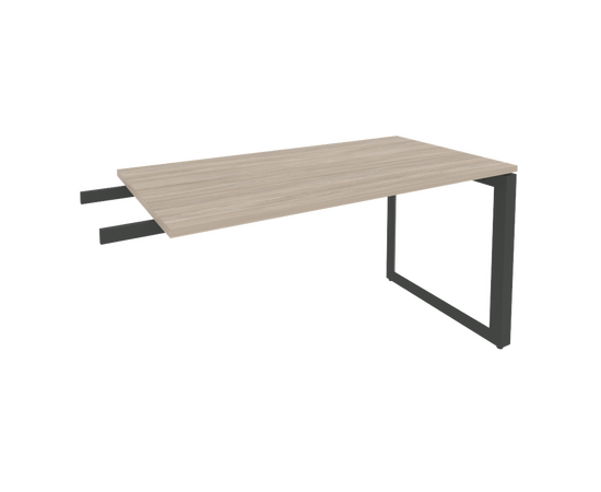 Брифинг-приставка для стола руководителя на О-образном металлокаркасе Onix O.MO-BR-13 RIVA Денвер светлый 1380x720x750