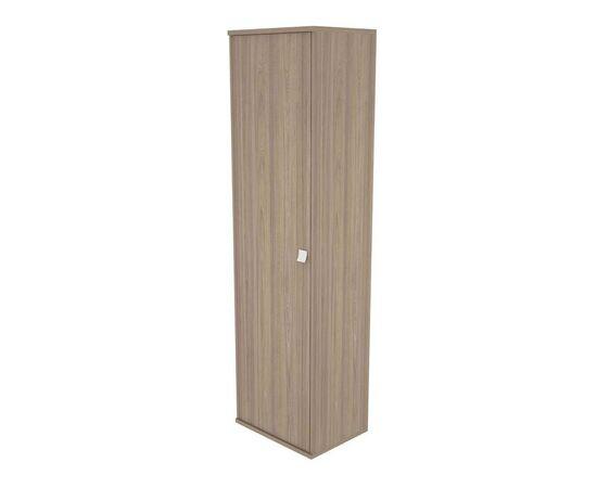 Гардероб для верхней одежды узкий (выдвижная вешалка) STYLE Л.ГБ-1 Вяз Благородный темный 558х410х1980, Цвет товара: Вяз благородный темный