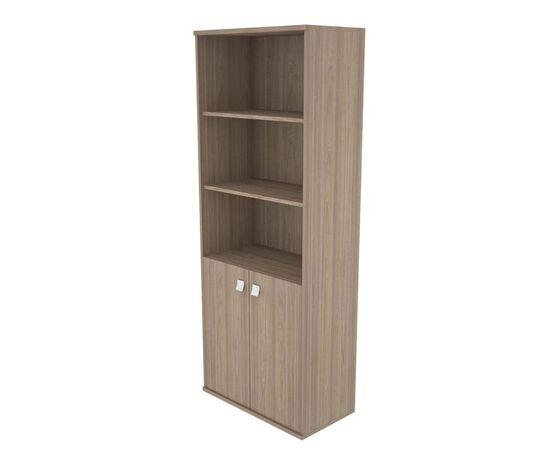 Шкаф для документов высокий широкий (2 низкие двери ЛДСП) STYLE Л.СТ-1.1 Вяз Благородный темный 778х410х1980, Цвет товара: Вяз благородный темный