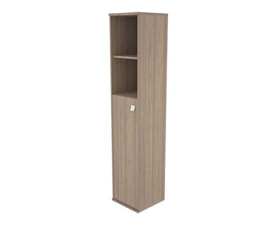 Шкаф для документов высокий узкий левый (1 средняя дверь ЛДСП) STYLE Л.СУ-1.6Л Вяз Благородный темный 412х410х1980, Цвет товара: Вяз благородный темный