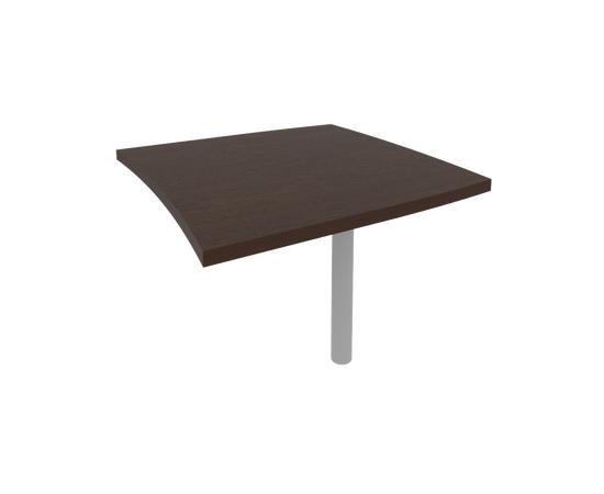 Брифинг-приставка для криволинейного стола (опора КО-1 в комплекте) FIRST KB-2 904х904х765 Венге, Цвет товара: Венге Цаво