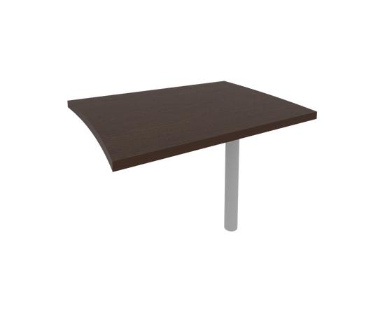 Брифинг-приставка для криволинейного стола (опора КО-1 в комплекте) FIRST KB-3 804x1004x765 Венге, Цвет товара: Венге Цаво