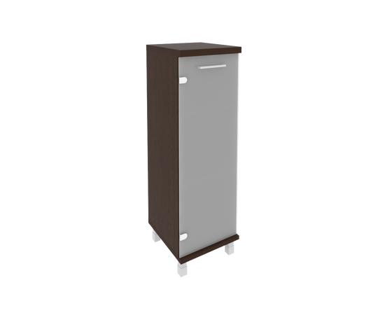 Шкаф для документов средний узкий левый/правый (1 средняя дверь стекло) FIRST KSU-2.4 400*430*1260 Венге, Цвет товара: Венге Цаво