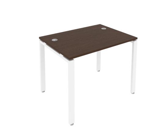 Стол прямой письменный на металлокаркасе Metal system Riva Б.СП-1 Венге / Белый мет.1000*720*750, Цвет товара: Венге / Белый мет.