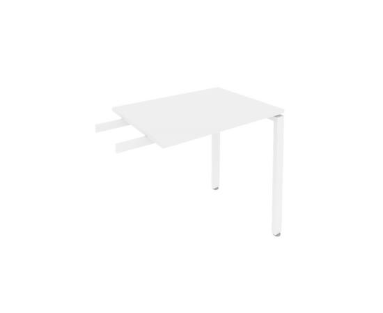 Брифинг приставка к столу на металлокаркасе Metal system Riva Б.ПР-2 Белый  800*600*750, Цвет товара: Белый