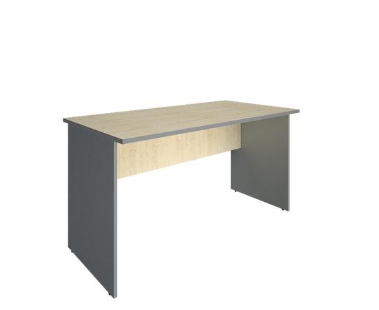 Стол прямой письменный RIVA А.СП-3 Клен Металлик 1400х720х750, Цвет товара: клен металлик