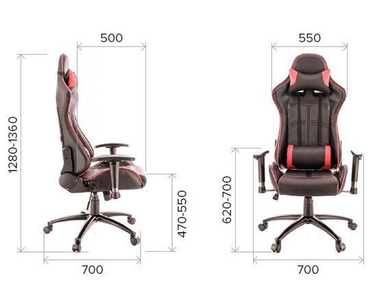 Кресло геймерское Everprof Lotus S10 экокожа красный