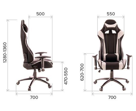 Кресло геймерское Everprof Lotus S4 ткань серая, Цвет товара: черно-серое, изображение 2