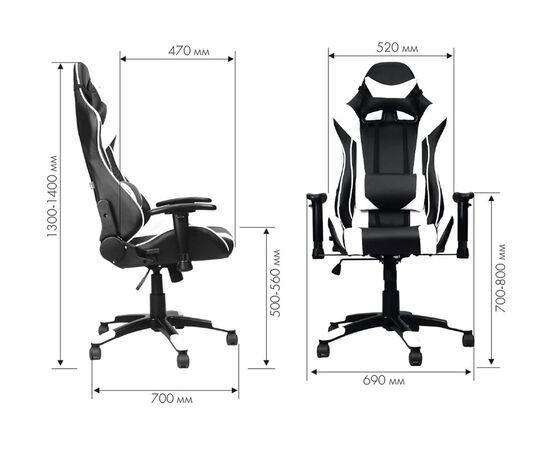 Кресло геймерское Everprof Lotus S6 Экокожа Белый