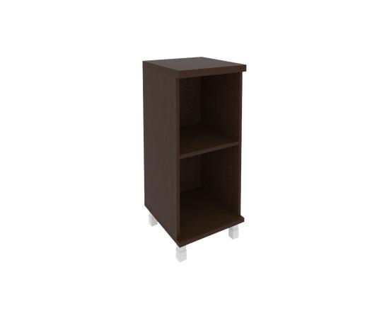 Шкаф для документов низкий узкий левый/правый (1 низкая дверь стекло в раме) FIRST KSU-3.2R 400*430*960 Венге, Цвет товара: Венге Цаво, изображение 3