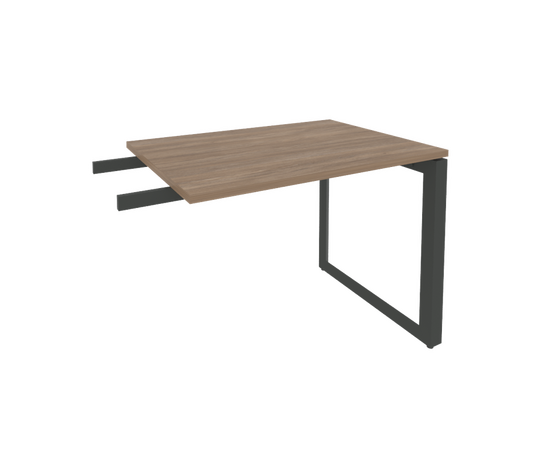 Брифинг-приставка для стола руководителя на О-образном металлокаркасе Onix O.MO-BR-9 RIVA Денвер светлый 980x720x750, Цвет товара: Дуб Аттик, изображение 4
