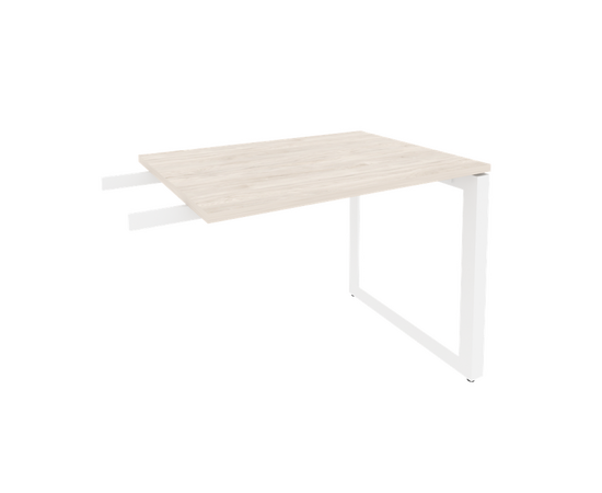 Брифинг-приставка для стола руководителя на О-образном металлокаркасе Onix O.MO-BR-9 RIVA Денвер светлый 980x720x750, Цвет товара: Дуб Аттик, изображение 6