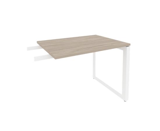 Брифинг-приставка для стола руководителя на О-образном металлокаркасе Onix O.MO-BR-9 RIVA Денвер светлый 980x720x750, Цвет товара: Дуб Аттик, изображение 8
