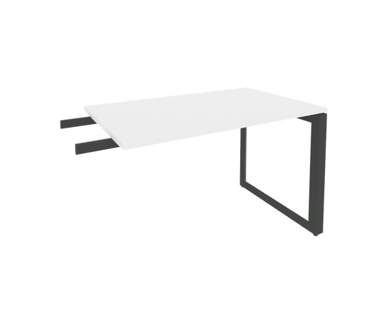 Брифинг-приставка для стола руководителя на О-образном металлокаркасе Onix O.MO-BR-11 RIVA Денвер светлый 1180x720x750, изображение 2