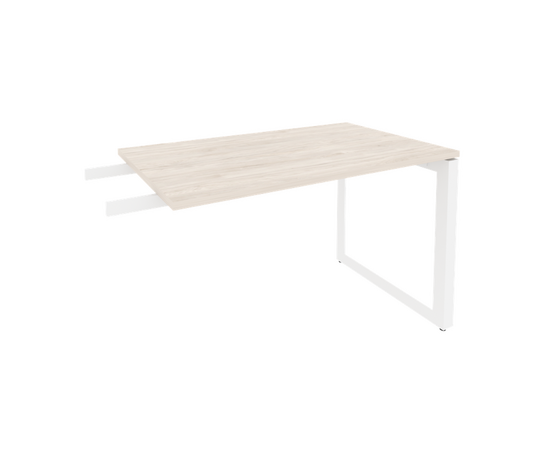 Брифинг-приставка для стола руководителя на О-образном металлокаркасе Onix O.MO-BR-11 RIVA Денвер светлый 1180x720x750, изображение 6