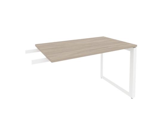 Брифинг-приставка для стола руководителя на О-образном металлокаркасе Onix O.MO-BR-11 RIVA Денвер светлый 1180x720x750, изображение 8