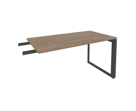 Брифинг-приставка для стола руководителя на О-образном металлокаркасе Onix O.MO-BR-13 RIVA Денвер светлый 1380x720x750, изображение 4