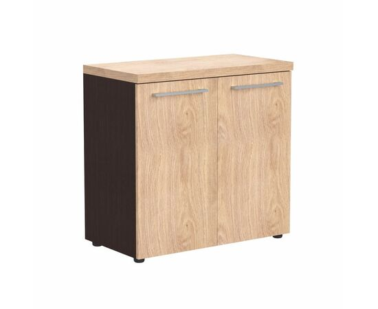 Шкаф низкий широкий с глухими малыми дверьми и топом Skyland ALTO ALC 85.1 Венге магия 850х430х795, Цвет товара: Венге магия, изображение 2