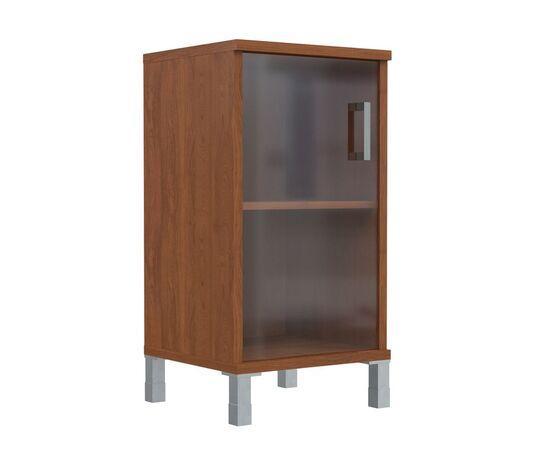 Шкаф для документов низкий с левой стеклянной дверкой В-411.5L Венге магия Skyland Born 475х450х920, Цвет товара: Венге магия, изображение 4