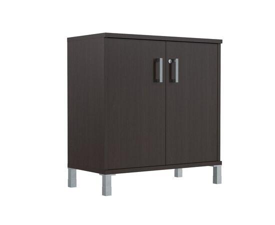 Шкаф для документов с дверьми низкий широкий В-410.2 Венге магия Skyland Born 900х450х920, Цвет товара: Венге магия, изображение 5