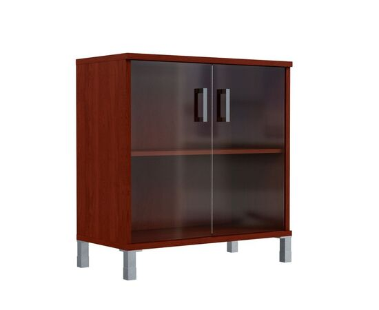 Шкаф для документов с дверьми низкий широкий В-410.5 Венге магия Skyland Born 900х450х920, Цвет товара: Венге магия, изображение 2